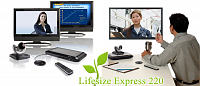 LifeSize 1000-000R-1154  LifeSize Express 220 - Camera 10x - 2nd Generation Phone  Кодек FULL HD 1080p - NON-AES